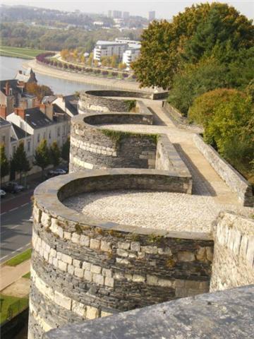 Les remparts du Château d'Angers
